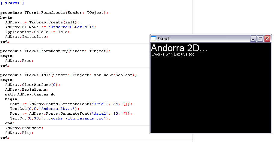 Andorra 2D - The Next Generation 2D Engine for Delphi and